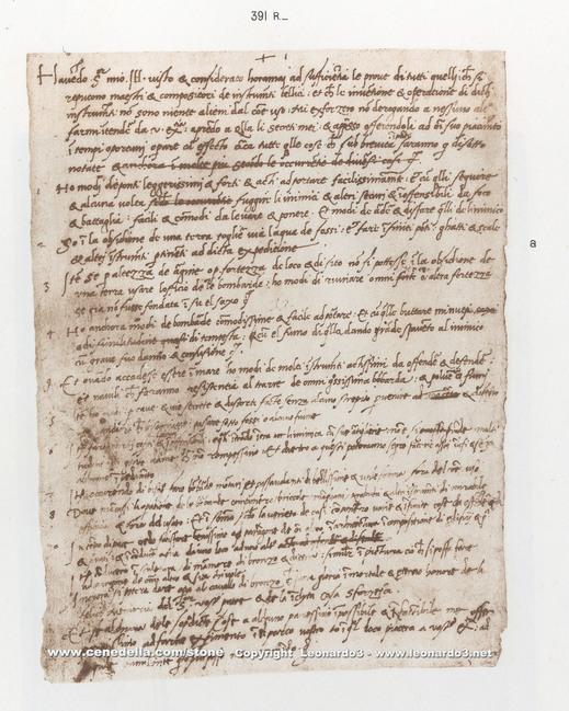 Da Vinci's CV