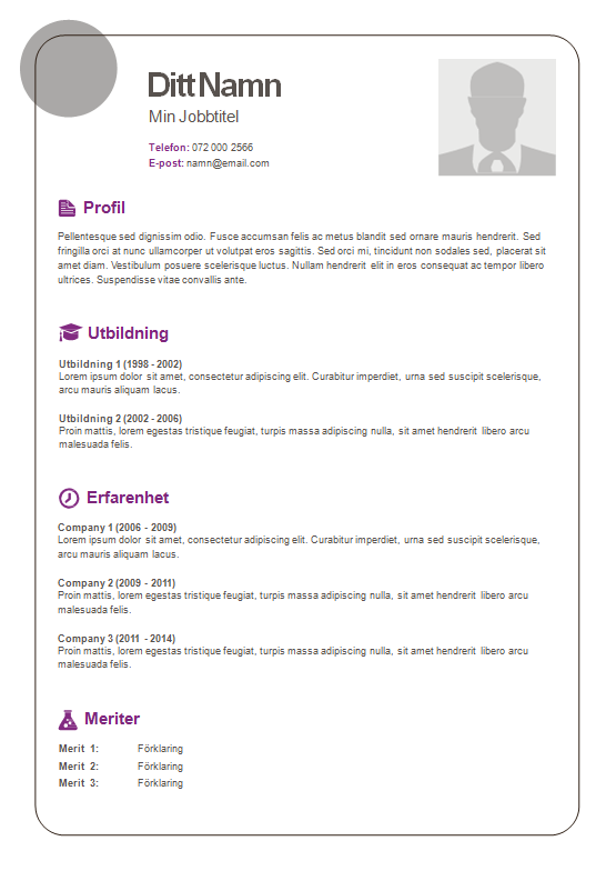 Resume Cv Sample Best Free Home Design Idea